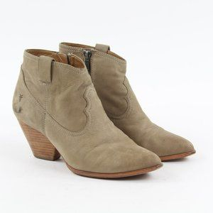 Frye Regina Western Ankle Side Zip Bootie 9.5